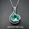 Silver Triangle Green Spinel pendant Single Design For Birthday Gifts