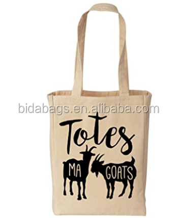 Totes Ma Goats Funny Cotton Canvas Tote - Eco Friendly Reusable Grocery Bag (Natural)