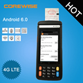 IP65 Android wireless industrial rugged handheld barcode scanner pda with printer