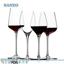 Sanzo Handmade Glassware Manufacturer mouth blown finely made wine glass crystal