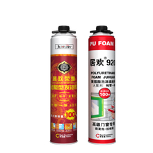 JUHUAN gap filler polyurethane waterproof foam 750ml spray pu adhesive