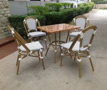 cheap bamboo furniture , rattan wicker cafe table chairs