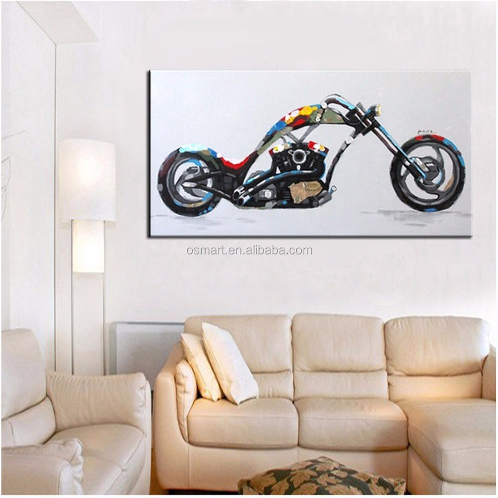 handmade einfache farben abstrakte moderne motorrad. Black Bedroom Furniture Sets. Home Design Ideas