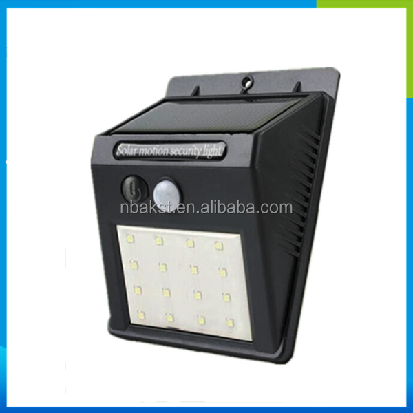 2016 new product Rechargeable Motion Sensor Solar Led Lights with 2.5W Solar Panel