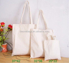 Promotional Custom plain white cotton canvas tote bag