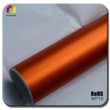 TSAUTOP super quality ROHS Certificate 1.52*20m air free bubbles matte chrome vinyl wrap pattern