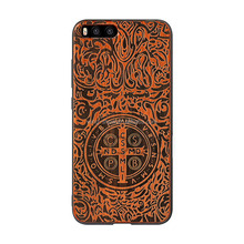 Free sample high quality black Walnut wooden mobile phone cover+pc for xiao mi Mi6,mobile phone accessories