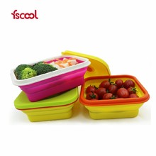 Hot-selling Wholesale Microwave Safe Silicone Lunch Box/Collapsible Silicone Food container