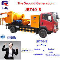 Truck mounted Concrete Pump with Mixer With JBT40-B