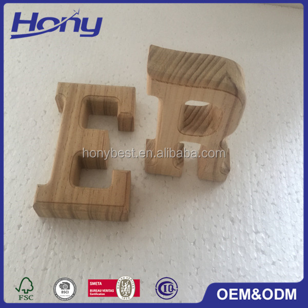 Home and office decorative wooden alphabet letters for Where to buy wooden letters cheap