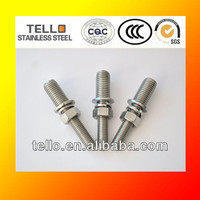 stainless steel threaded bar rod 50mm long 4 nuts