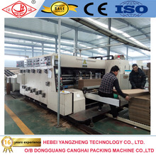 Corrugated Carton Flexo Printing Slotting and Die Cutting machine with stacking section