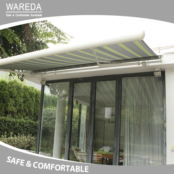 Retractable window awning Semi Cassette Operated Awning