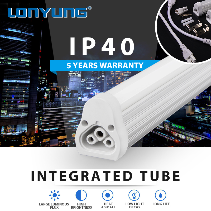 Simple and stylish 50000h Working Lifetime t5 integrated led tube lamp