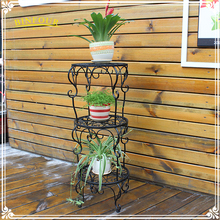 colorful 3 tiers wrought iron flower pot holder plant stands