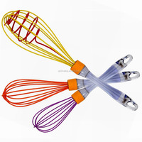 JK12643S 3-Pack Silicone Egg Whisk Beater