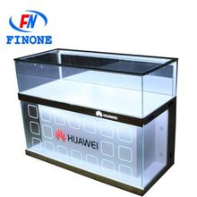 Cheap glass case in mobile phone store hot selling mobile phone store display cabinet showcase for sale in 2016