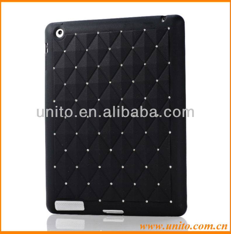 Bling Rhinestone Starry Silicone Case For ipad 4