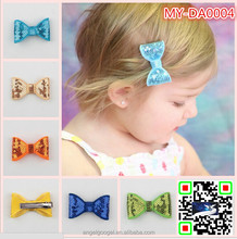 latest hairband fancy hair accessories claw clips designs blingbling Sequin hair metal bow headband MY-DA0004