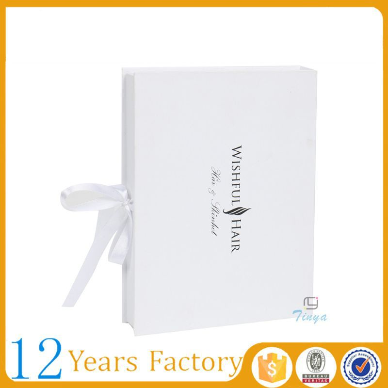 White box hair extension packaging wholesale