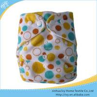 China Products Lovely World Sleepy Baby Diaper Printed Minky Cloth Diaper