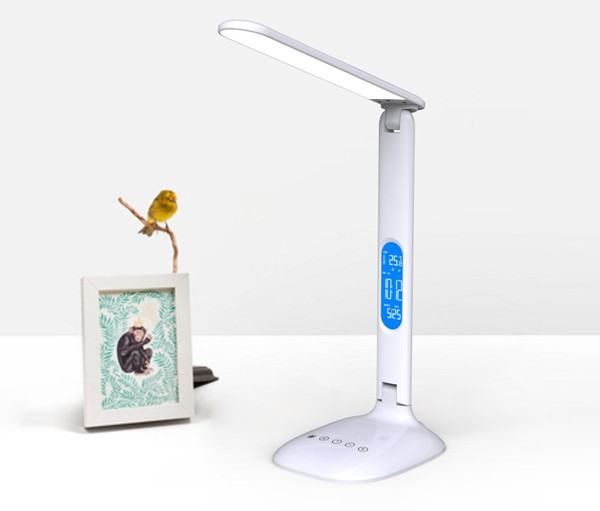 Eye-protect led stand reading lamp with three-mode light and timer