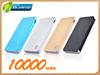 10000mah high capacity usb slim rechargable power bank charger battery for smartphone
