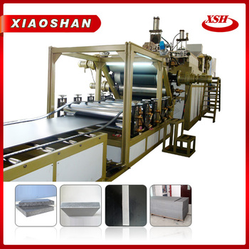 PP PE Multilayer plastic board extruder machine for construction molding