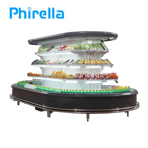Air Cooling Showcase Commercial Refrigerator For Supermarket