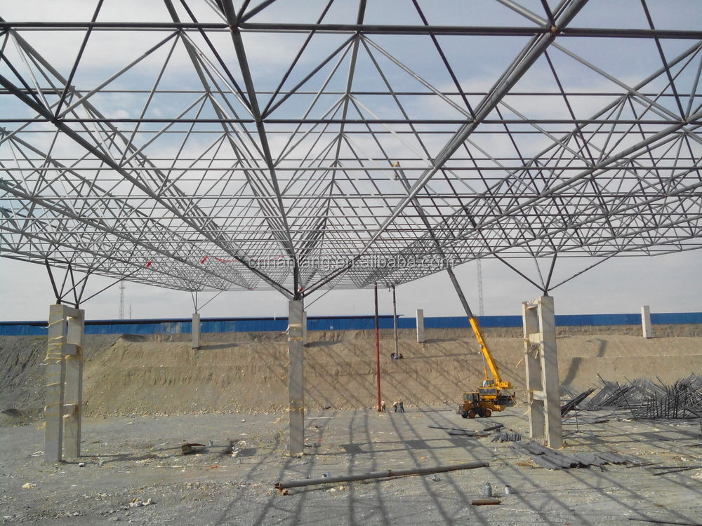 Lightweight Space Frame Steel Truss Exhibition Hall Roofing - Buy ...