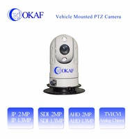 Outdoor Mini IP/SDI/AHD/Analog CCTV Security infrared vehicle mounted car PTZ dome Camera