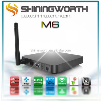 Android M6 TV Box 1G/8G android 4.4 kitkat Quad-core Amlogic S805 built-in WIFI/Bluetooth H.265/4K
