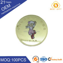China factory metal decoration commemorative coin with logo