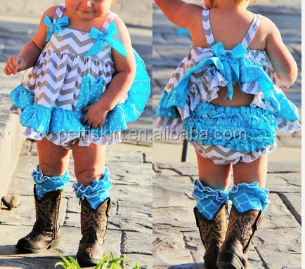 2015 girls summer outfits baby clothing brand top and ruffle diaper cover set infant clothes