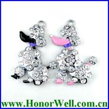 Jewelry Necklace Promotional USB Pen Drive Dog Shaped