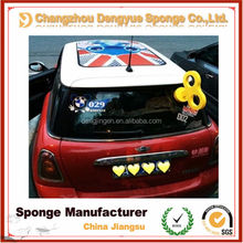 Different Shapes Cute Car Accessories Decorations Clockwork Foam