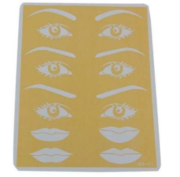 Rubber practice skin for beginner, professional Cosmetic permanent makeup skin for eyebrow