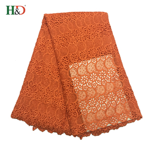 H & D Colorful African Fashion Style Sequin Fancy Embroidery Lace Fabric With High Quality