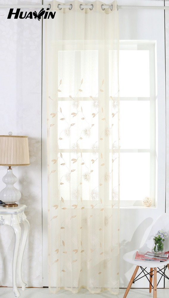 embroidery lace curtain fabric