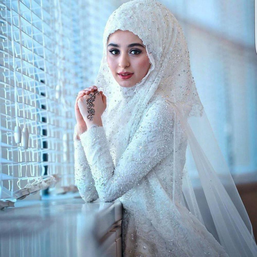 Personnalisé grande taille haute qualité dentelle arabe puffy robe de bal  manches longues 2019 robe de