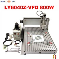 Best cnc milling machine price 3 axis cnc woodworking router 6040 Z -VFD with 800W spindle for Assembled & tested well