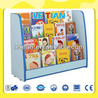 LT-2151G High quality pine wood book shelf for kids
