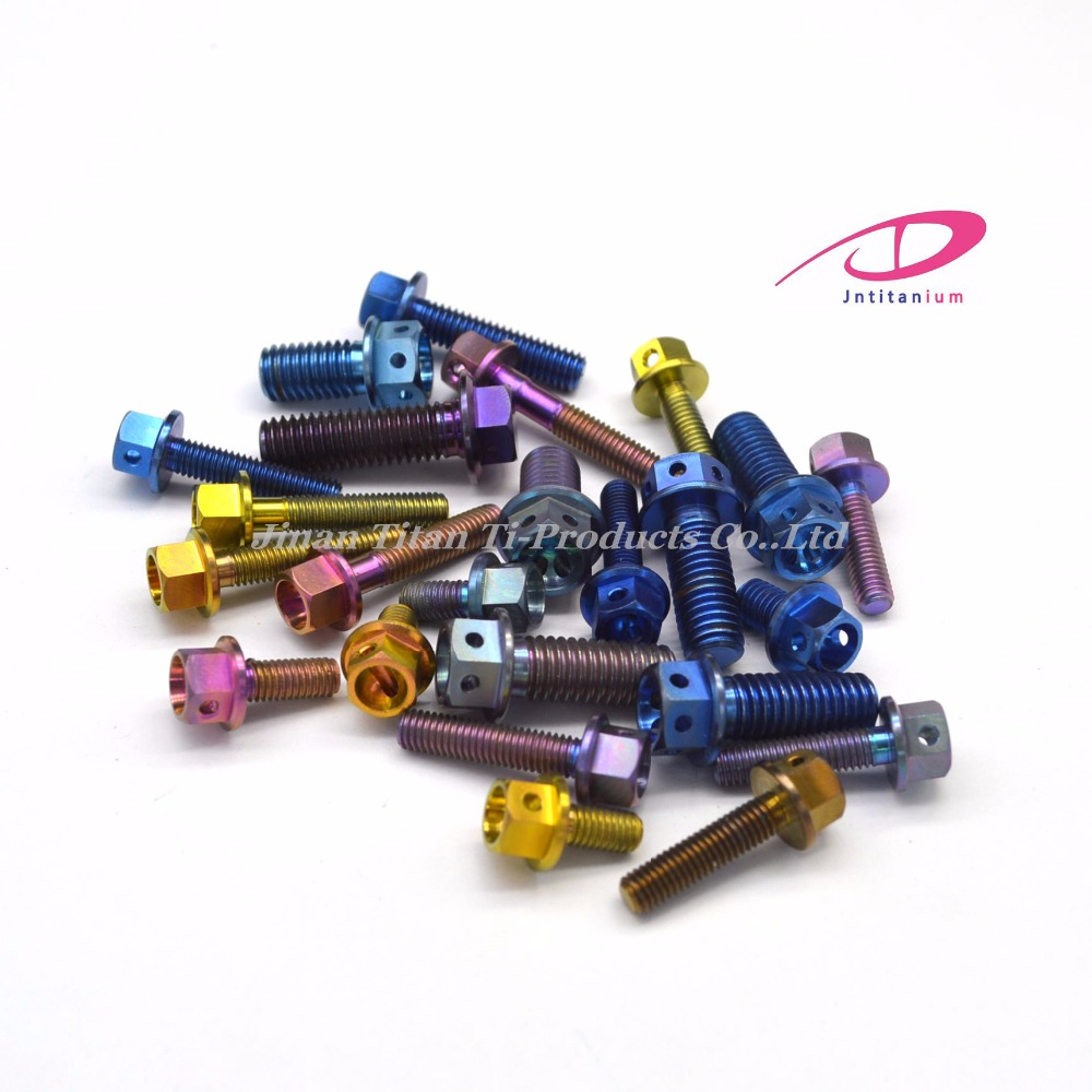 Colored titanium flange bolts wholesale for motorcycle