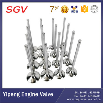Auto Engine valves 13711-1430 intake and 13715-1260 exhaust valves for Truck FN / FR Eng.EP100