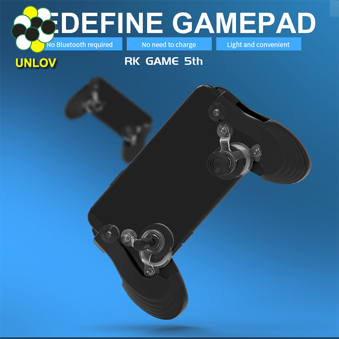 Portable 2 in 1 Mobile Screen Touch Joystick Gamepad controller for iphone/ pad