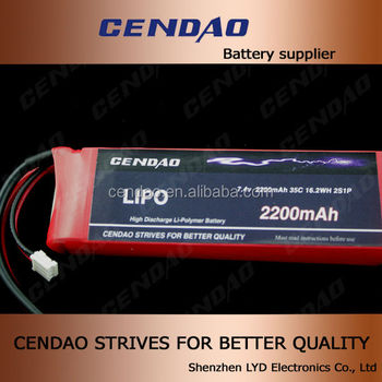 High capacity 2200mah 7.4v 35c battery rc lipo battery