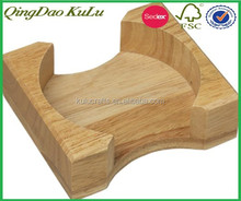 factory price top quality unique wooden coaster holder,round coaster holder