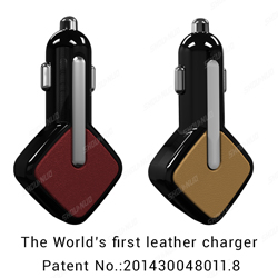 multiple power black dual port usb car charger for ipod/ipad/iphone