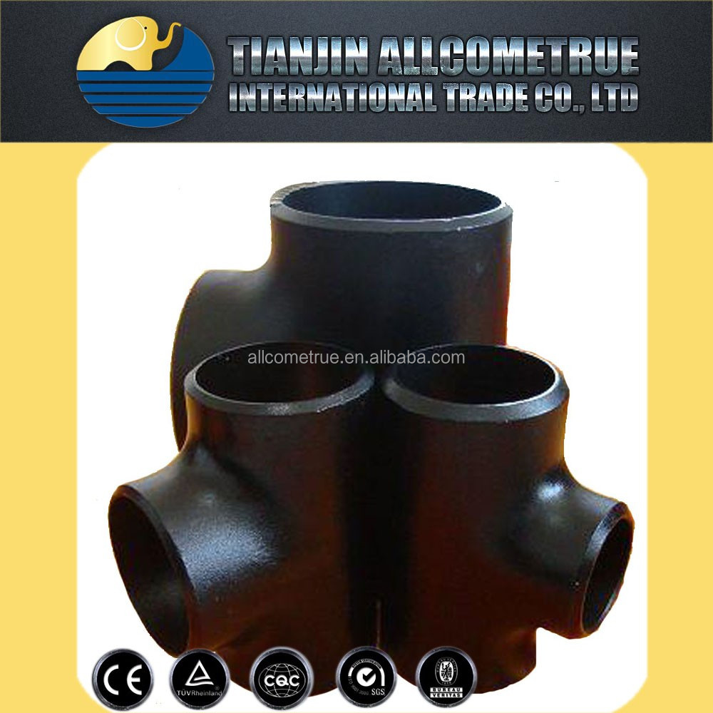 Hot galvanized malleable iron / cast iron pipes fitting side outlet tees equal