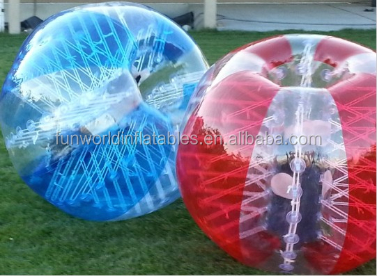 1.5m TPU bubble ball football, human bubble bump soccer, kids inflatable bumper ball